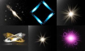 耀眼夺目装饰光效元素矢量素材V03