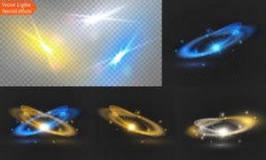 耀眼夺目装饰光效元素矢量素材V04