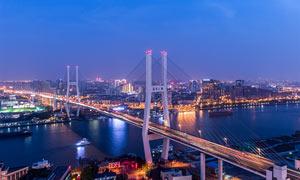 城市夜景和立交桥美景摄影美高梅