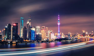 上海外滩美丽夜景摄影美高梅