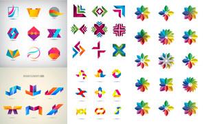 缤纷多彩标志适用设计元素矢量素材
