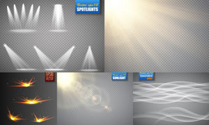 耀眼夺目装饰光效元素矢量素材V05