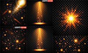 耀眼夺目装饰光效元素矢量素材V08