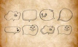 卡通气泡边框和对话框PS笔刷