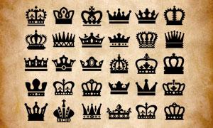 欧式皇冠剪影PS笔刷