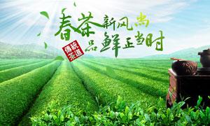 春季早茶宣传海报设计PSD源文件