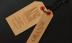 纸质商品吊牌内容应用贴图分层模板