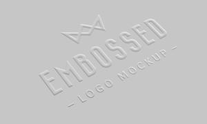 钢印凸起效果标志图案贴图分层模板
