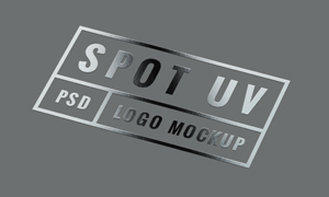 局部UV印刷效果标志图案贴图模板