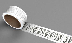 包装箱封装用胶带提示文字贴图模板