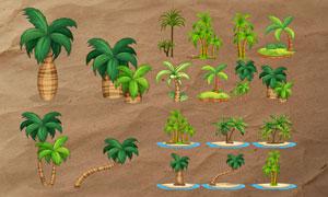 高清晰椰树PS笔刷