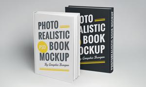 书籍封面封底装帧效果贴图分层模板