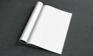 杂志画册内页展示效果贴图分层模板