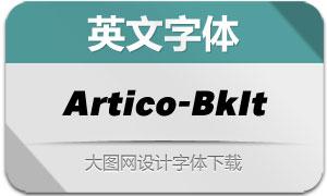 Artico-BlackItalic(英文字体)