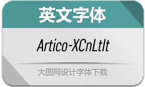 Artico-ExtraCondLtIt(英文字体)