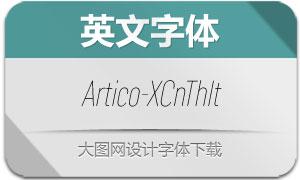 Artico-ExtraCondThinIt(英文字体)