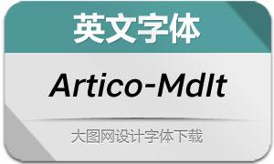 Artico-MediumItalic(英文字体)