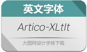Artico-ExtraLightItalic(英文字体)