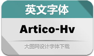 Artico-Heavy(英文字体)