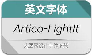 Artico-LightItalic(英文字体)