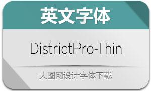 DistrictPro-Thin(英文字体)