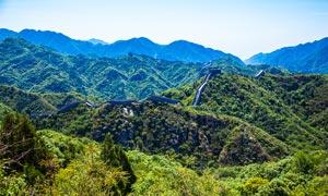 壮观的八达岭长城美景摄影图片