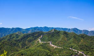 八达岭长城美丽全景摄影图片
