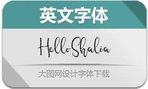 HelloShalia(英文字体)
