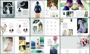 欧式影楼婚纱画册设计模板PSD素材
