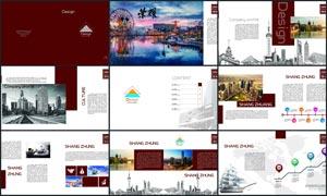 红色主题高档画册设计模板PSD源文件
