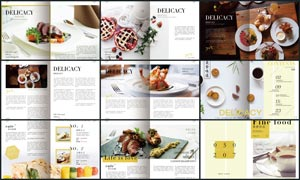 高档美食杂志设计模板PSD源文件