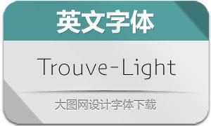 Trouve-Light(英文字体)