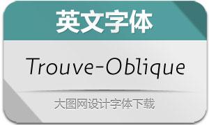 Trouve-Oblique(英文字体)