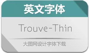 Trouve-Thin(英文字体)