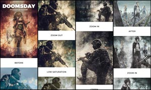 超酷的末日战争火花装饰特效PS动作