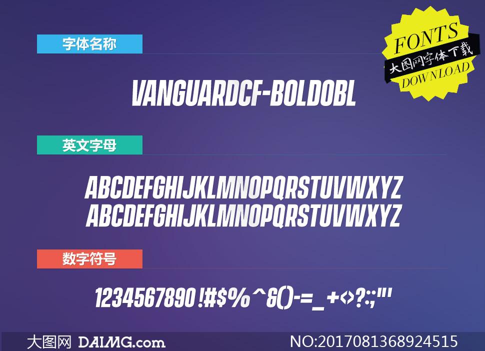 VanguardCF-BoldObl(英文字体)
