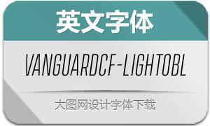 VanguardCF-LightOblique(字体)