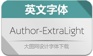 Author-ExtraLightralight(英文字体)
