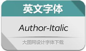 Author-Italic(英文字体)