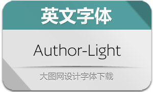 Author-Light(英文字体)