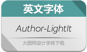 Author-LightItalic(英文字体)