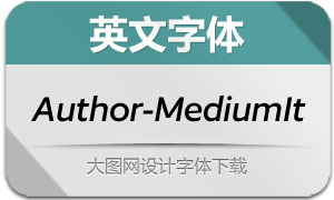 Author-MediumItalic(英文字体)