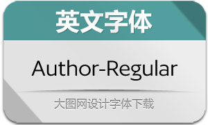 Author-Regular(英文字体)