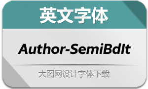 Author-SemiBoldItalic(英文字体)