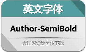 Author-SemiBold(英文字体)
