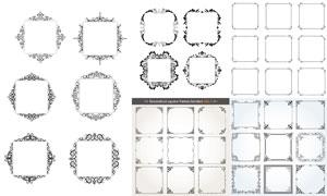 欧式风格方形样式装饰边框矢量素材
