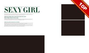 简约杂志风格婚纱写真模板特辑V10