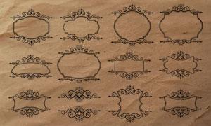 欧式花纹边框和分隔符PS笔刷