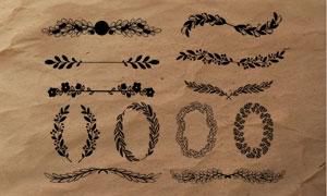 欧式手绘花纹藤蔓边框PS笔刷