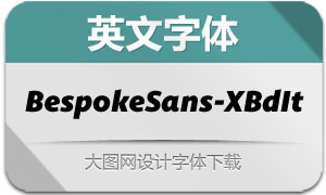 BespokeSans-ExtraBoldIt(字体)